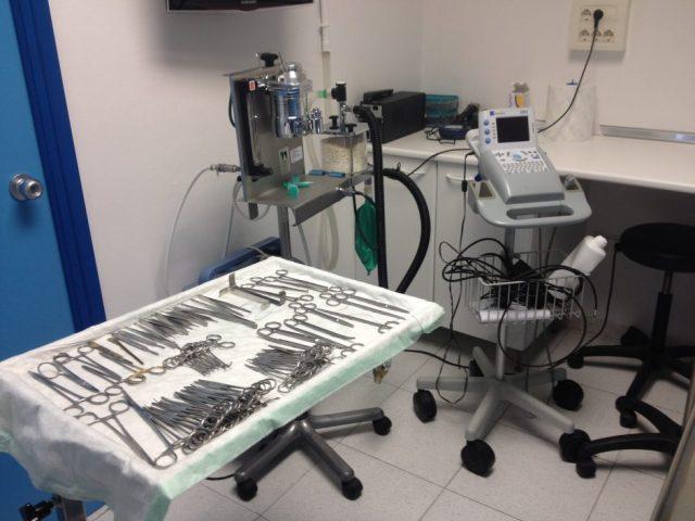 Material quirúrgic i ecògraf